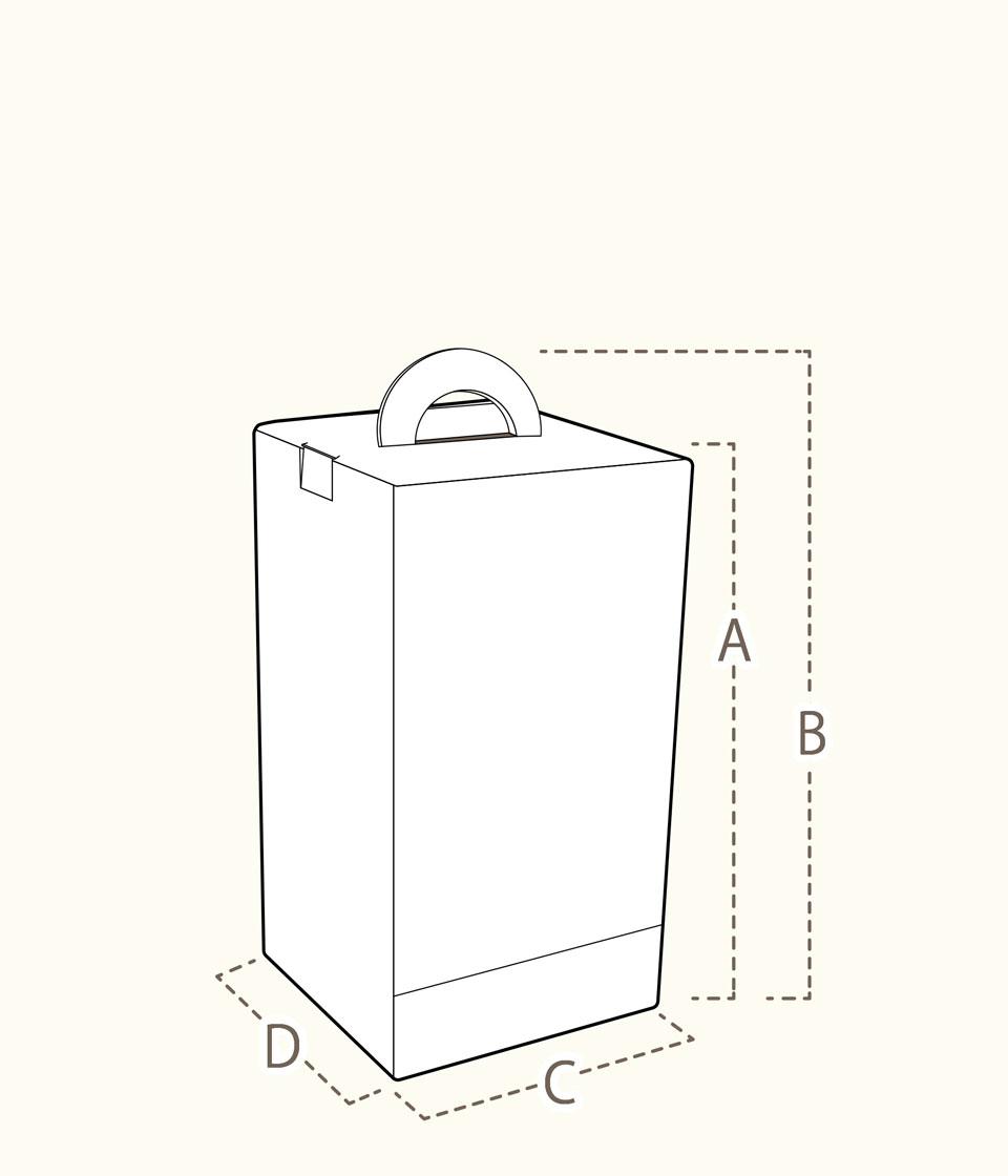ウィッグ専用ボックス サイズ