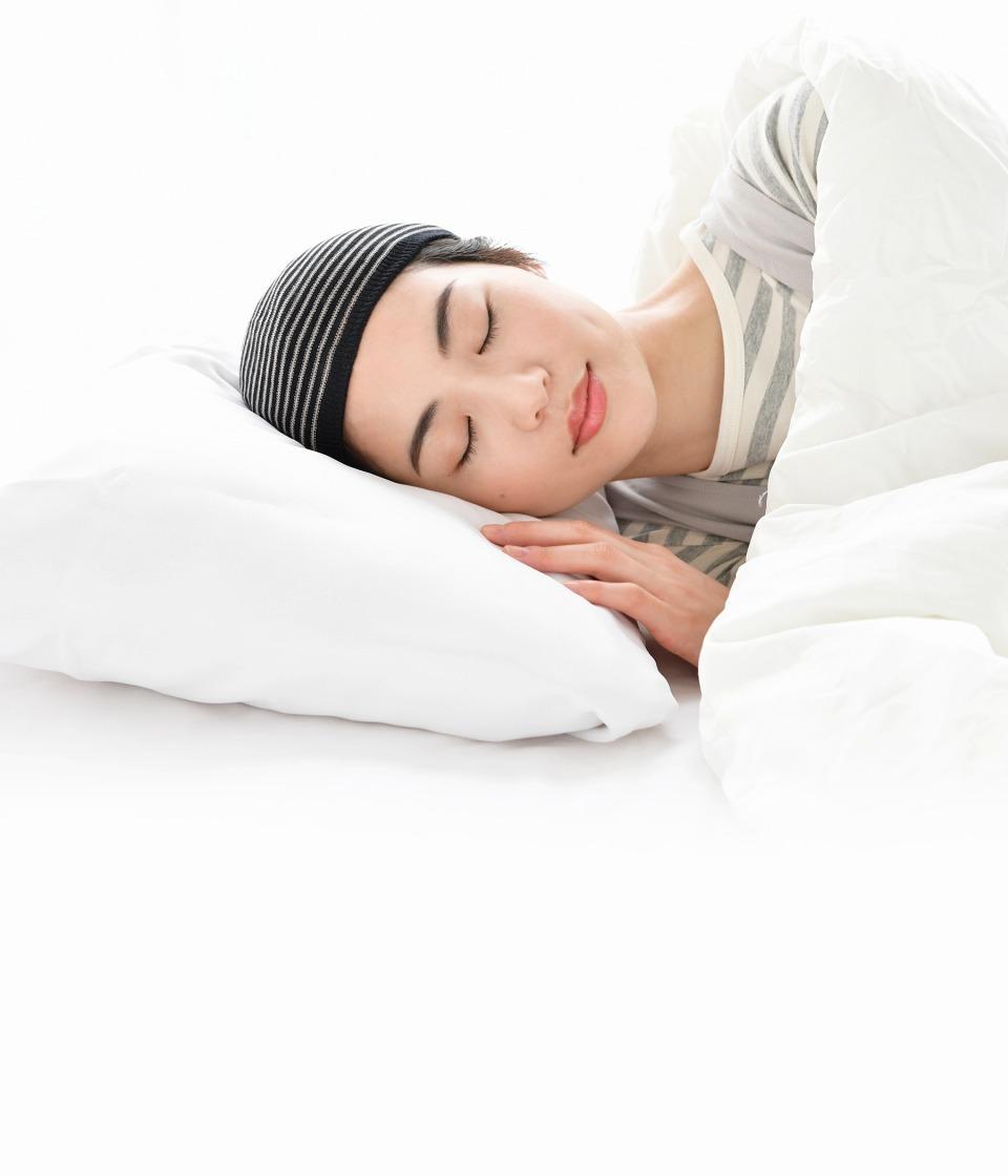就寝時のナイトキャップとして使える医療用帽子