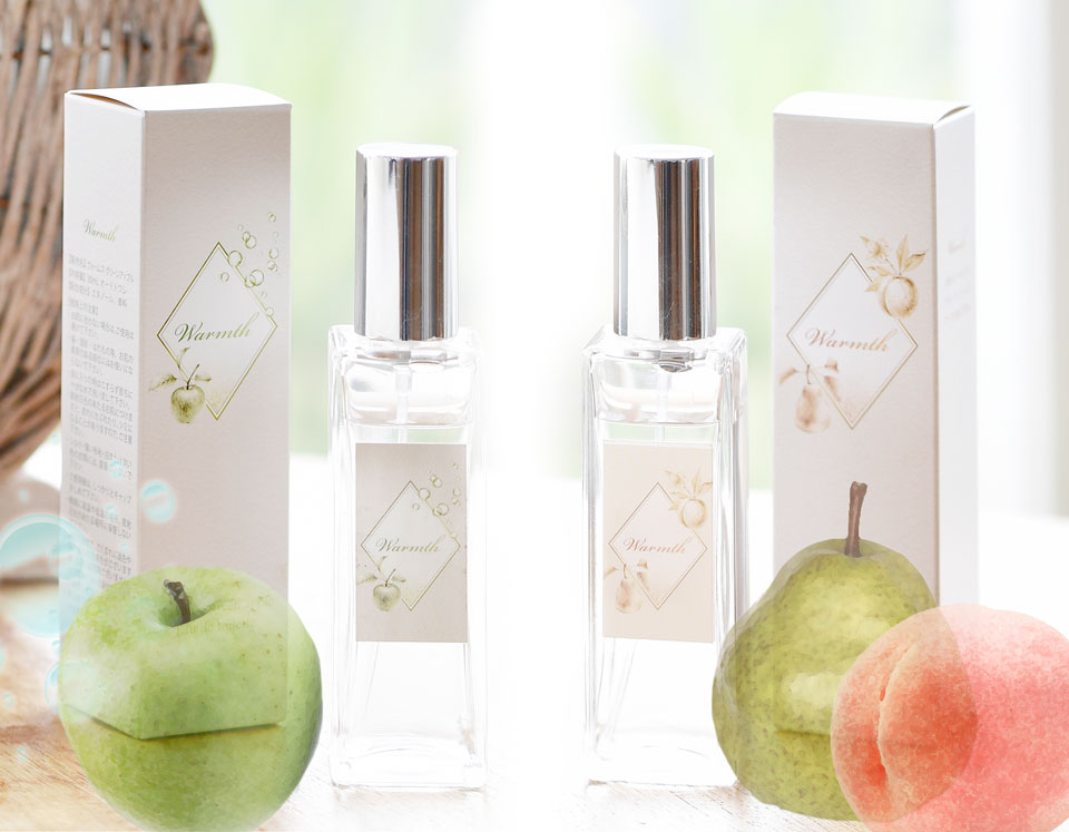 香りはオリジナル配合の2種配合のオードトワレ
