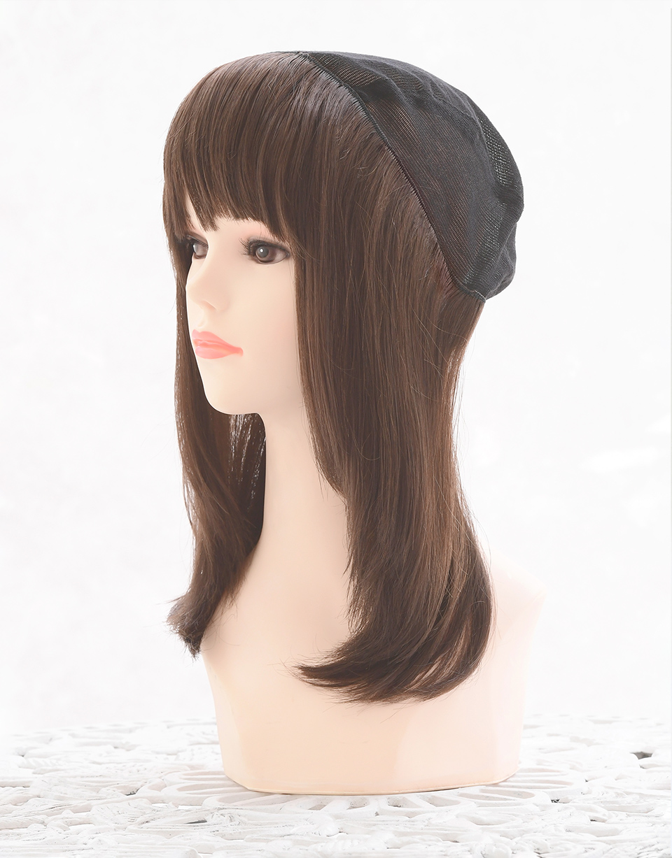 髪つき帽子(帽子ウィッグ)肌優ショート