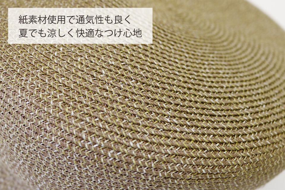 紙素材使用で通気性の良い医療用帽子