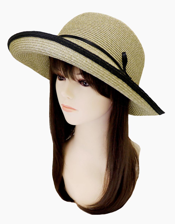 夏のお出かけにおすすめ、洗える和紙素材の帽子 ブルトンハット