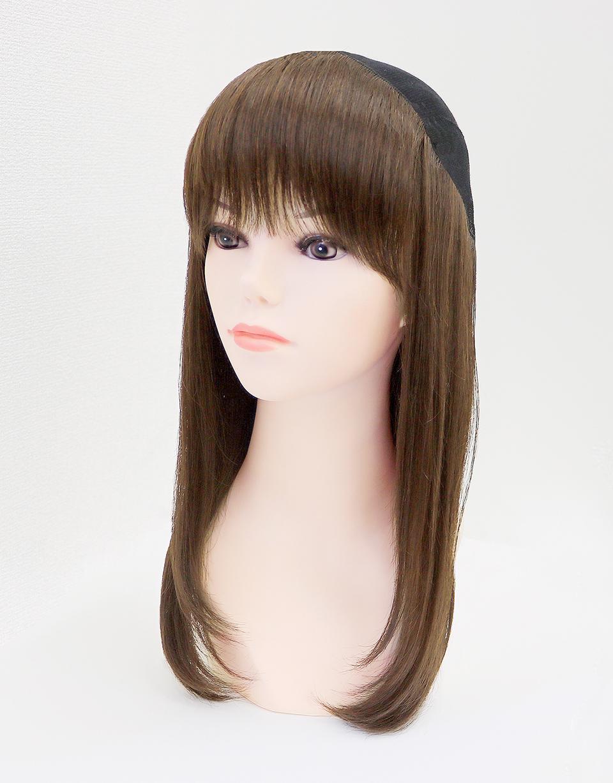 髪つき帽子(帽子ウィッグ)肌優ミディアム