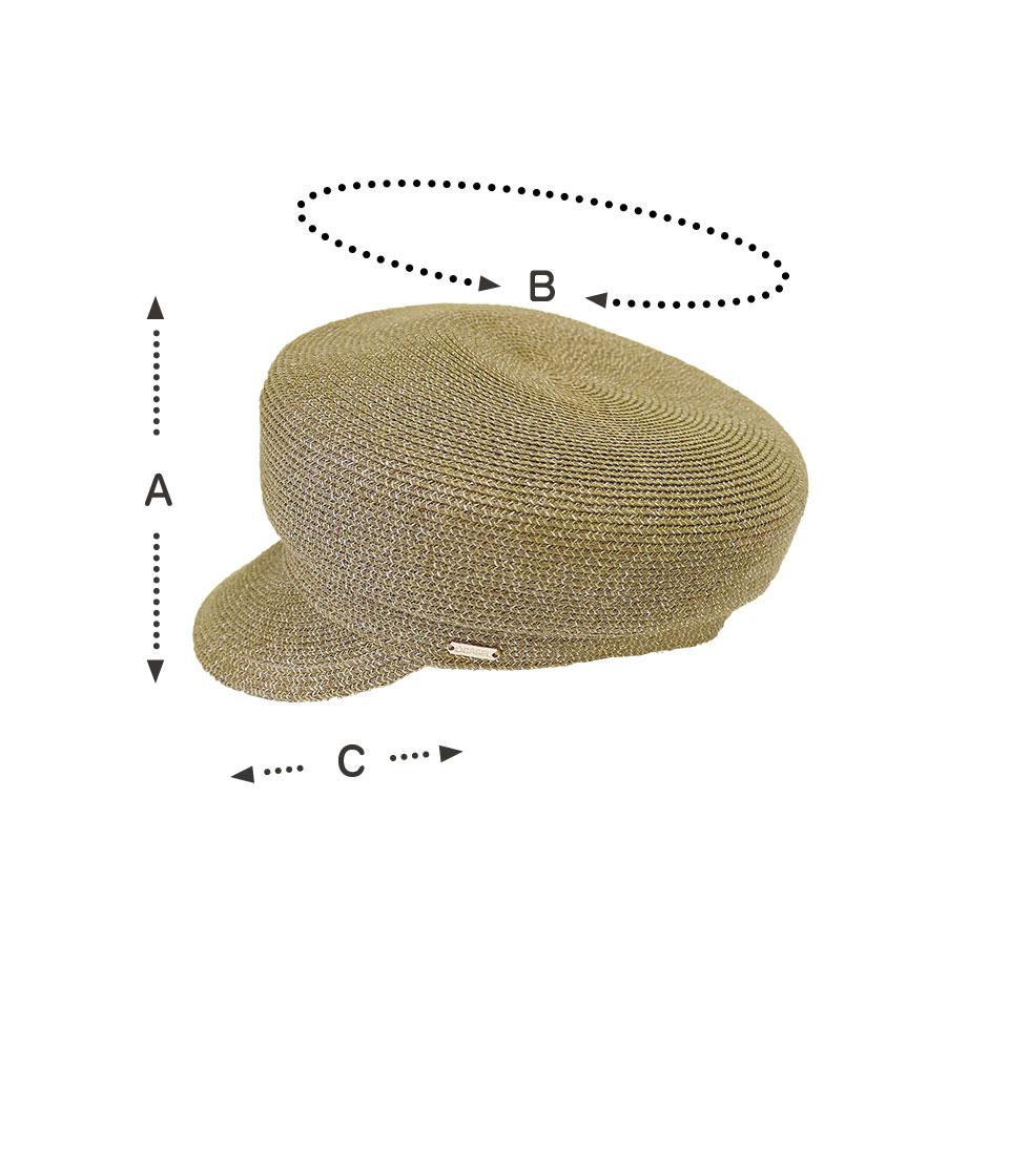 キャスケットブラウン:サイズ表
